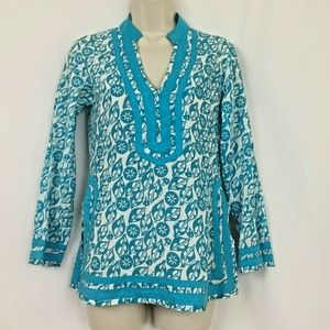 Voile Brand Tunic Top Small Womens Floral Boho